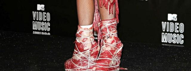 Lady Gaga Hearts Meat