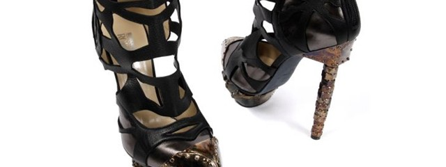 Kardashian Bronze Toe Shoes