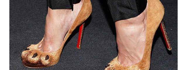 Blake Lively in Louboutin Lion Paws